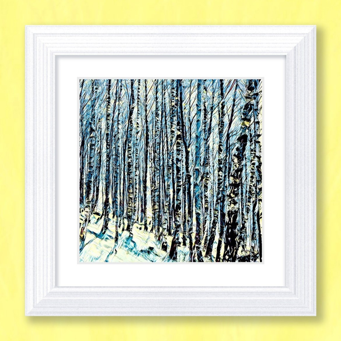 Silver Birches Art Print