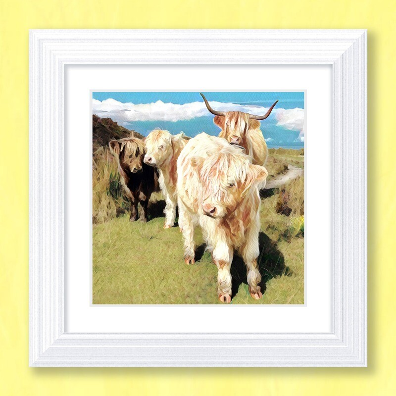 The Highland Family Art Print