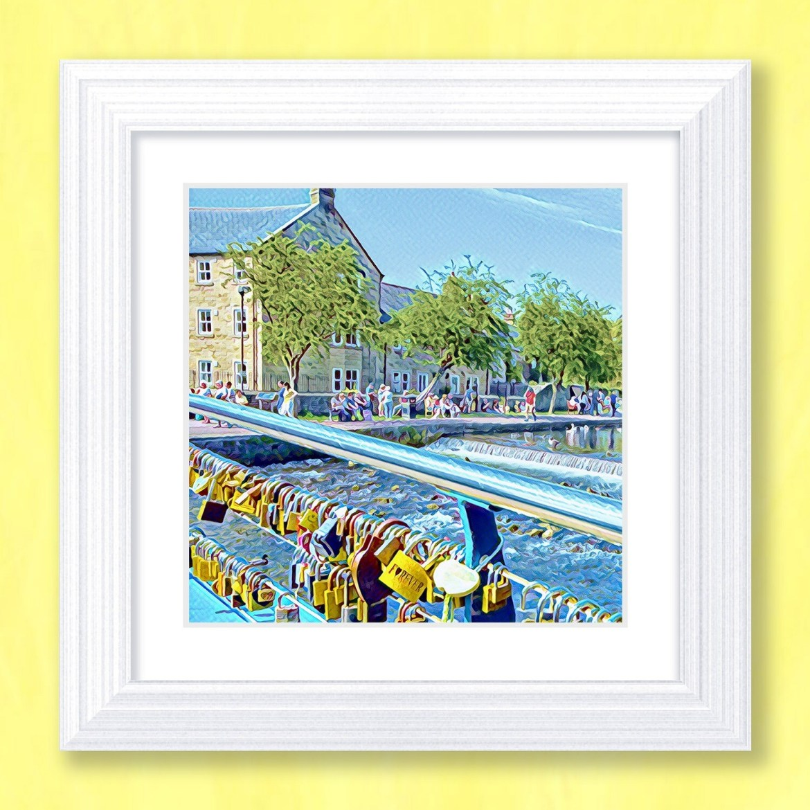 Bakewell Love Locks Art Print