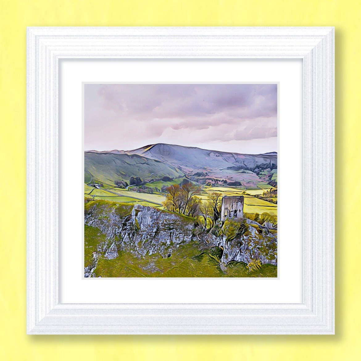 Peveril Castle Art Print