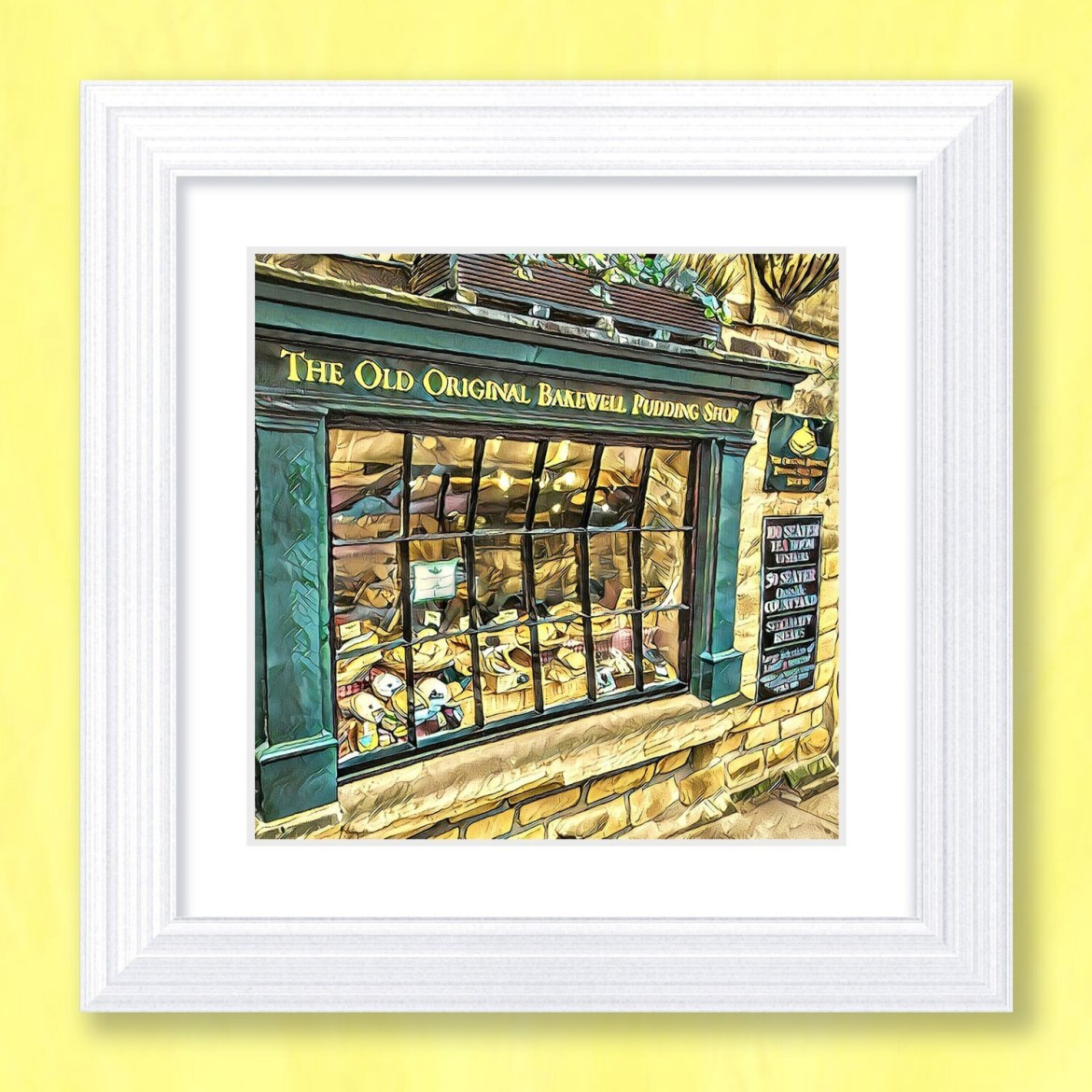 Bakewell Pudding Shop Art Print