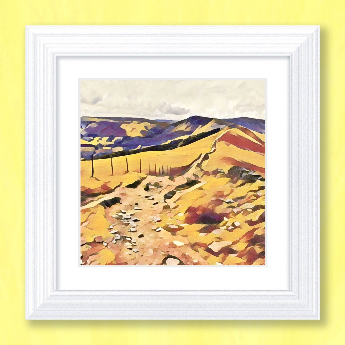 Mam Tor Great Ridge Art Print