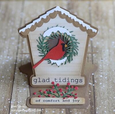 Bird House Pop Up Easel Set craft die