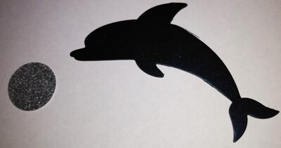 Dolphin and Ball Die Cut