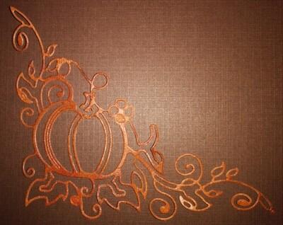 Ornate Pumpkin Die Cut