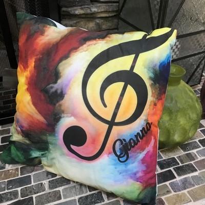 Music Airbrush Pillow