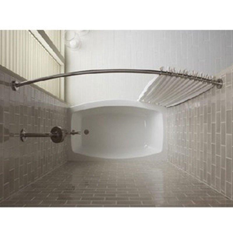 مضرب بطانة تمديد curved shower curtain
