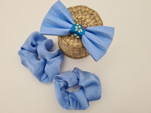 Blue sparkle bow tie