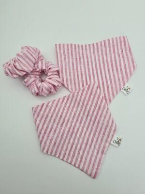 PinkStripe Scrunchie