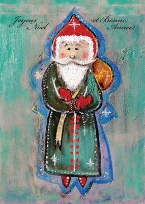 Father Christmas Holiday Greeting Card