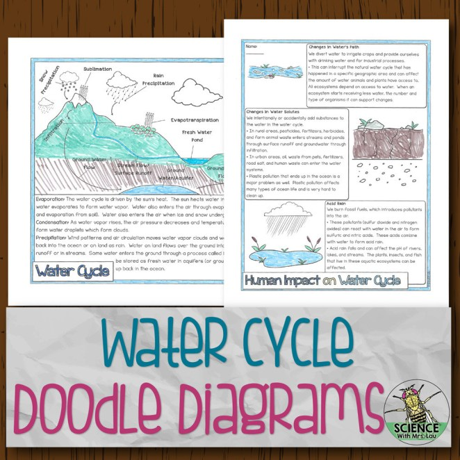 Water Cycle Doodle Diagrams