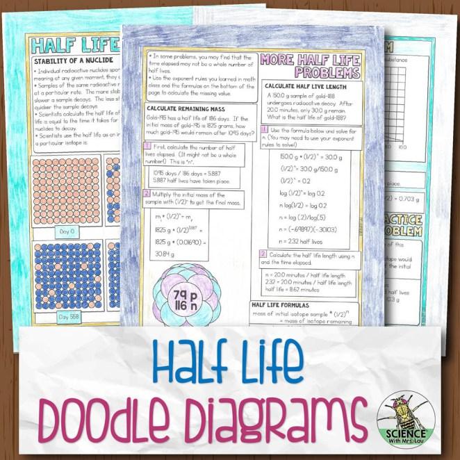 Half Life Doodle Diagram Notes