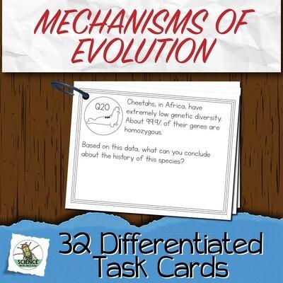 Mechanisms of Evolution Task Cards