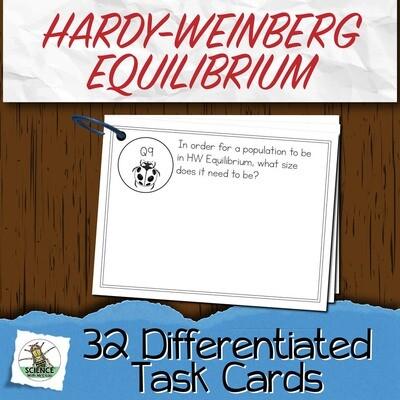 Hardy-Weinberg Equilibrium Task Cards