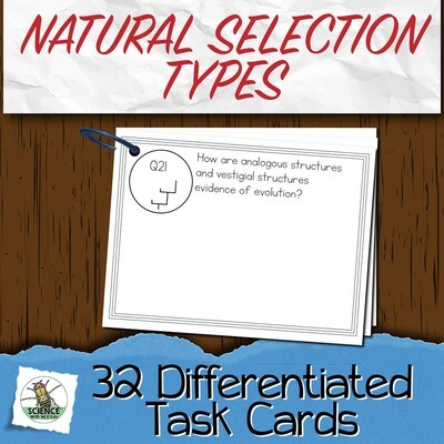 Natural Selection Types and Sexual Selection Task Cards