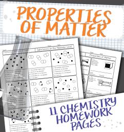 Chemistry Unit 2: Properties of Matter Homework Pages [ 1221 x 1239 Pixel ]