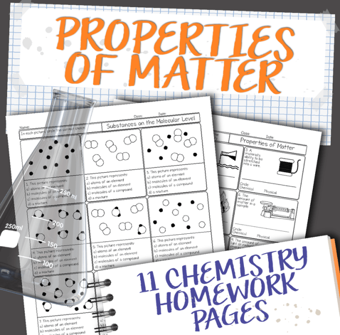 Chemistry Unit 2: Properties of Matter Homework Pages