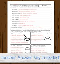 Chemistry Unit 2: Properties of Matter Homework Pages [ 2550 x 2551 Pixel ]