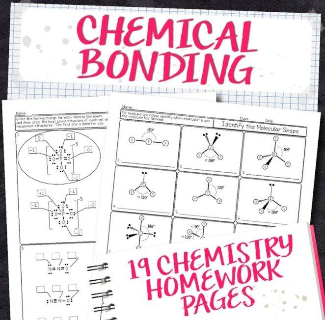 Chemistry Unit 7: Chemical Bonding Homework Pages