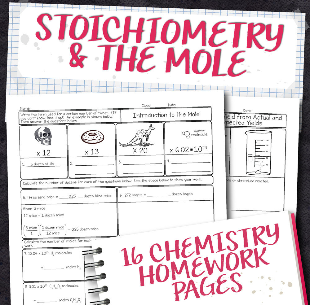 hight resolution of Chemistry Unit 9: Stoichiometry Homework Pages   Store - Science and Math  with Mrs. Lau