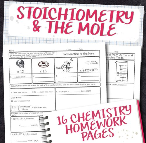 small resolution of Chemistry Unit 9: Stoichiometry Homework Pages   Store - Science and Math  with Mrs. Lau