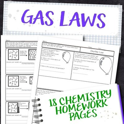 Chemistry Unit 10: Gas Laws Homework Pages