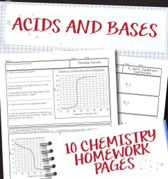 Chemistry Unit 15: Acids and Bases Homework Pages   Store - Science and  Math with Mrs. Lau [ 1000 x 1000 Pixel ]