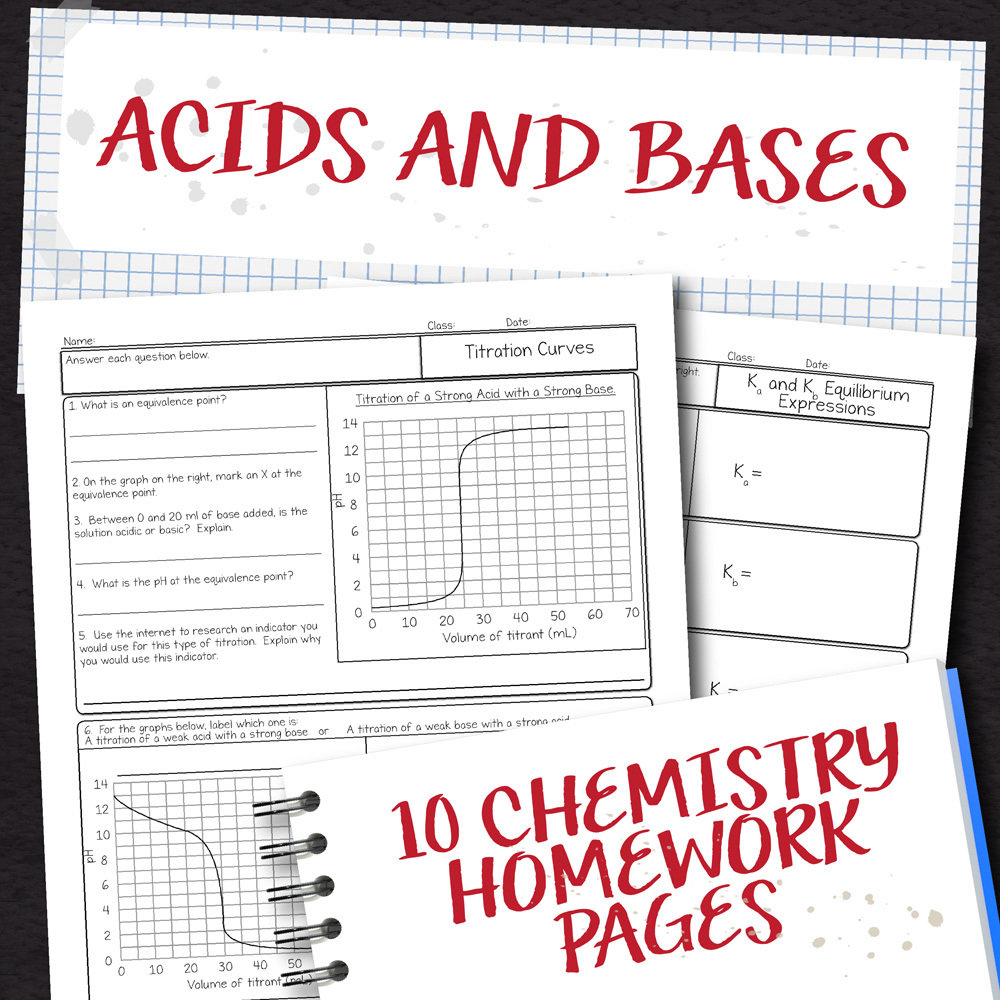 medium resolution of Chemistry Unit 15: Acids and Bases Homework Pages   Store - Science and  Math with Mrs. Lau