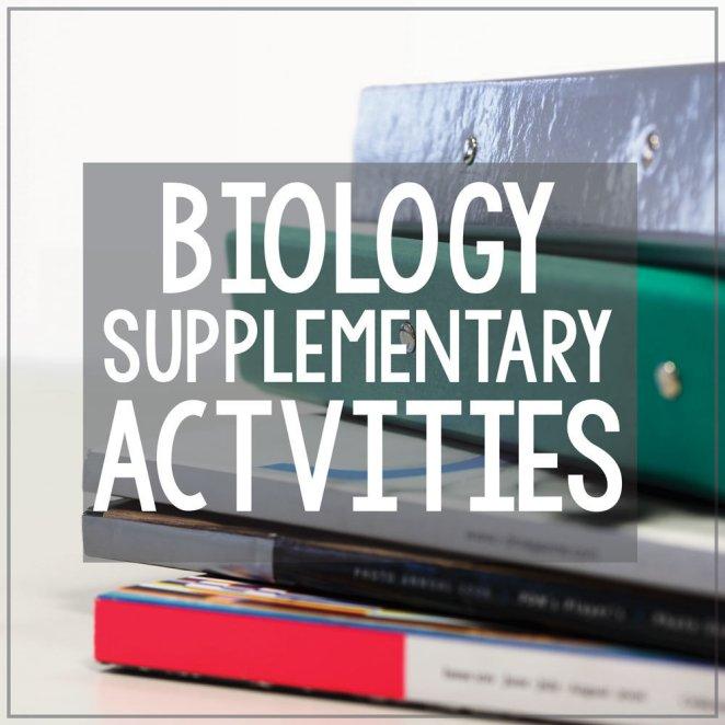 Supplementary Biology Activities