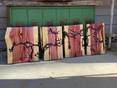 Live Edge Wood Wall Art, Rustic Cedar Decor