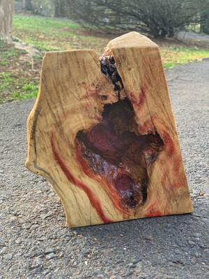 Rustic Shelf Decor, Live Edge Wood, box elder Wood