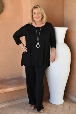 KASBAH Paloma - Black Jersey long Trousers
