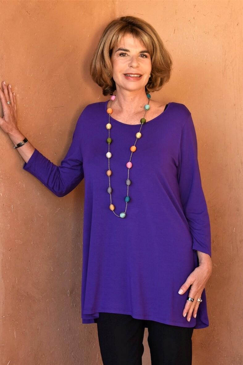 KASBAH Tessina 2 - Purple Jersey Top