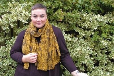 Samiya - Mustard Floral Scarf