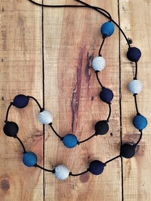 Kasbah Nila Navy/Aqua - Necklace