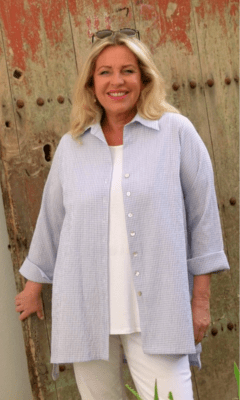 Kasbah June Button Through Blouse
