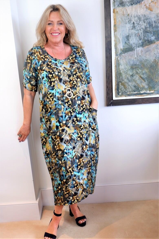 Kasbah Rajani Printed tulip cut dress