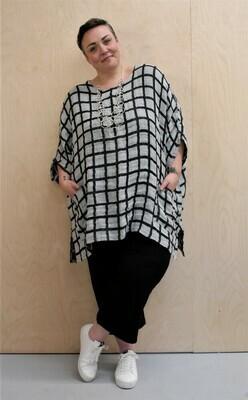Kasbah Tendai - Check linen one size top