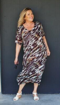 KASBAH Raima - Camouflage Print Dress