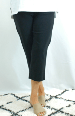 Robell Marie - Crop Trousers Black