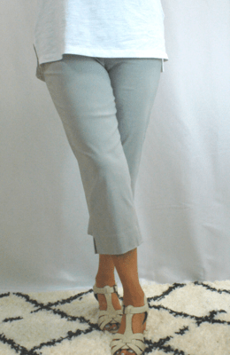 Robell Marie - Crop Trousers Silver