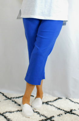 Robell Marie - Crop Trousers Cobalt