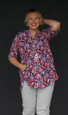Kasbah Tansy - Retro print tunic top