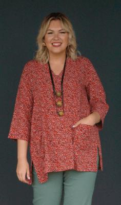 Kasbah Terri - Printed tunic top
