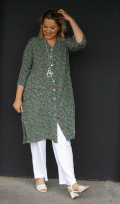 KASBAH Jacinda - Printed tunic/jacket - Soft Green