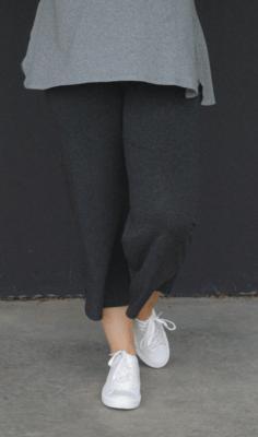 KASBAH Palaya - Anthracite Jersey Crop Trousers