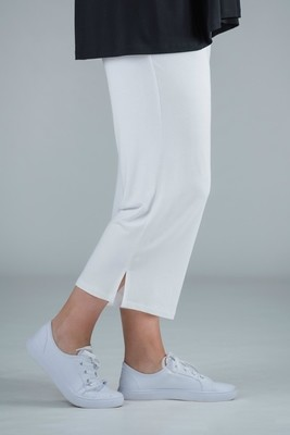 KASBAH Payton - Jersey crop trousers white