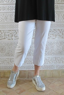 Robell Marie Capri Crop Trousers white