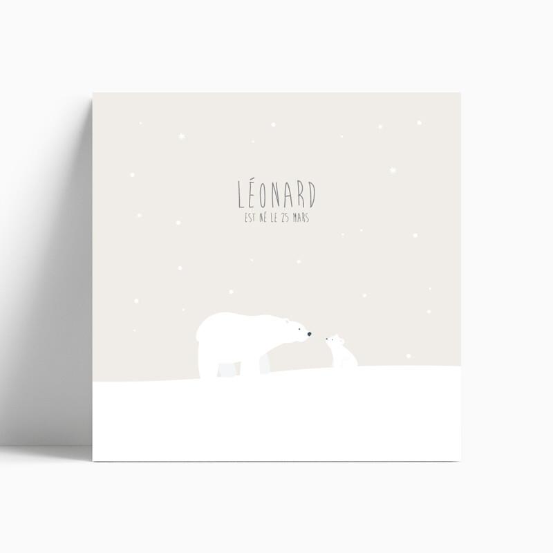 faire part de naissance ours polaire et son petit ourson
