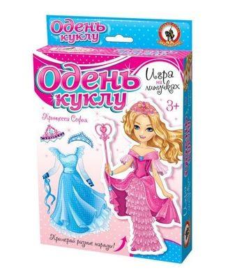 Настольная игра на липучках Принцесса София Одень куклу Русский стиль 03175